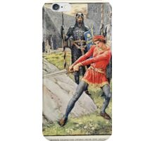 King Arthur's Knights - The Tale Retold for Boys and Girls by Sir Thomas Malory, Illustrated by Walter Crane 27 - Arthur Draws the Sword from the Stone iPhone Case/Skin
