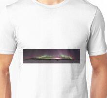 Panoramic shot of the Aurora over Prelude Lake, Yellowknife Unisex T-Shirt
