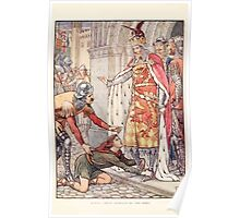 King Arthur's Knights - The Tale Retold for Boys and Girls by Sir Thomas Malory, Illustrated by Walter Crane 8 - Young Owen Appeals to the King Poster