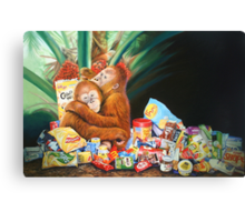 Palm Oil and Pollution Canvas Print