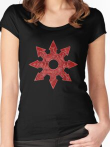 Chaos Star (Red) Women's Fitted Scoop T-Shirt