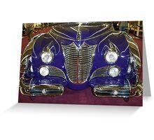 1948 Purple Cadillac Greeting Card