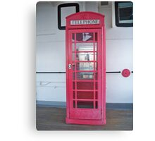 Phone Booth on the Queen Mary! Canvas Print