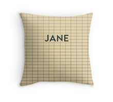 JANE Subway Station Throw Pillow