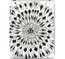Spiny graphic black and white mandala iPad Case/Skin