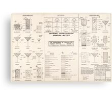 Cocktail Construction Chart by United States Forest Service Metal Print