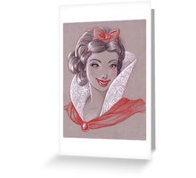 Toned Paper Snow White Greeting Card