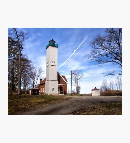 The Light at Presque Isle - Erie, PA Photographic Print