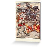 King Arthur's Knights - The Tale Retold for Boys and Girls by Sir Thomas Malory, Illustrated by Walter Crane 363 - Sir Lancelot Forbids Sir Born to Slay the King Greeting Card