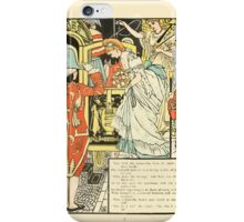 Cinderella Picture Book containing Cinderella, Puss in Boots, and Valentine and Orson Illustrated by Walter Crane 1911 14 - The Carriage iPhone Case/Skin