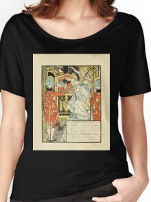 Cinderella Picture Book containing Cinderella, Puss in Boots, and Valentine and Orson Illustrated by Walter Crane 1911 14 - The Carriage Women's Relaxed Fit T-Shirt