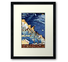 blue mountian Framed Print