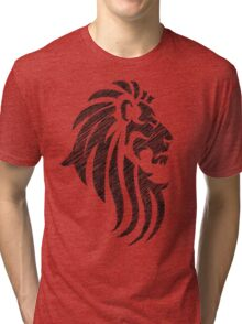 Lion Tribal Tattoo Style Distressed Design  Tri-blend T-Shirt