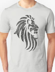 Lion Tribal Tattoo Style Distressed Design  T-Shirt