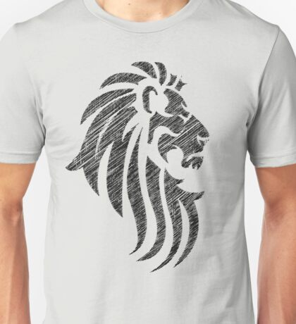 Lion Tribal Tattoo Style Distressed Design  Unisex T-Shirt