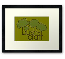 Green trees, bush craft Framed Print