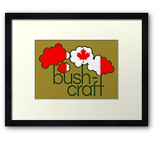 Bushcraft Canada flag Framed Print