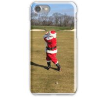 Santa hitting his 3 wood on December 26 iPhone Case/Skin