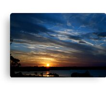 Goodnight Friday ~ Geelong Waterfront Canvas Print