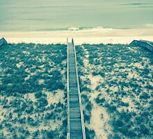 boardwalk on a beach by headandheart