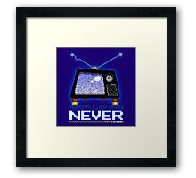 Retro TV - Better Late Than Never Videogames Framed Print