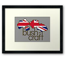 Bushcraft United Kingdom flag Framed Print