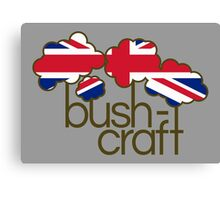 Bushcraft United Kingdom flag Canvas Print