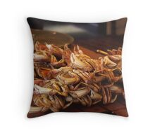 Crabs At Fisherman's Wharf, San Francisco. Throw Pillow