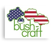 Bushcraft USA flag  Canvas Print