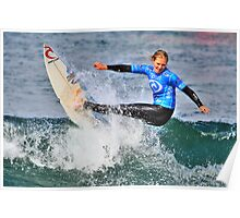 Stephanie Gilmore shows grace and power in Rip Curl Women's Pro Poster