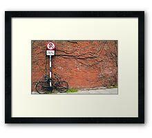 Cycling In THe Modern Age II Framed Print