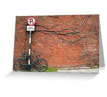 Cycling In THe Modern Age II Greeting Card