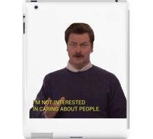 I'm Not Interested In Caring About People iPad Case/Skin