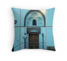 Reflections in the building Throw Pillow
