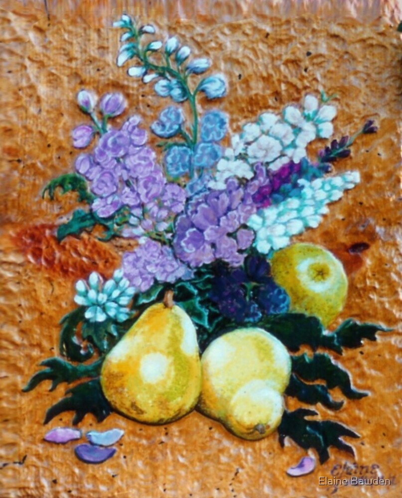 Pears and  Stocks by Elaine Bawden