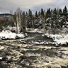 Winter Rapid River by terrebo