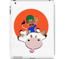Happiness is Riding a Cow iPad Case/Skin