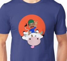 Happiness is Riding a Cow Unisex T-Shirt