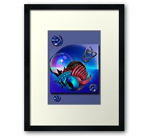 Space travelling Framed Print