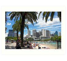 Southbank Beach,Brisbane,Australia Art Print