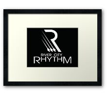 River City Rhythm Products - White on Black logo Framed Print