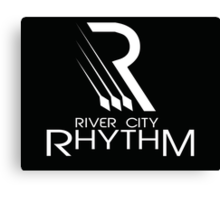 River City Rhythm Products - White on Black logo Canvas Print