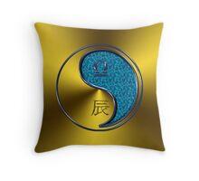 Libra & Dragon Yang Water Throw Pillow