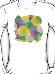 Stained glass colorful geometric mosaic pattern T-Shirt