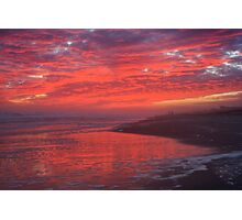 Sunset reflected in the surf of Emerald Isle, North Carolina Photographic Print
