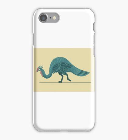 Blue Theropod iPhone Case/Skin