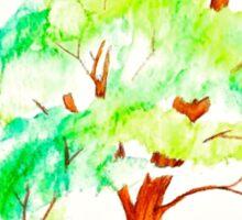 Bright Watercolor Zen Tree Sticker