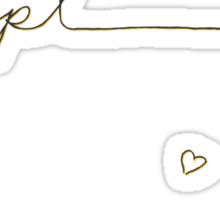 Dan and Phil Gold Handwritten Initials Sticker