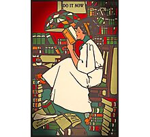 Vintage Poster 1909 Lady Reading Photographic Print