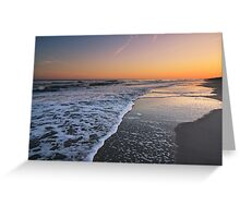 Sunset on Emerald Isle, North Carolina Greeting Card